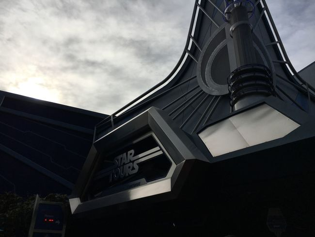 Star Wars Space Roller Coaster Long Lines Architecture Shadow