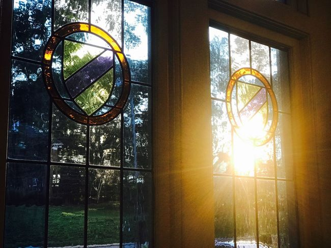 Window No People Sunlight Indoors  Day Stained Glass Stained Glass Window Stainedglass Sunlight Sunset_collection Sunset Windows Windowsaroundtheworld Sunlight ☀ Sunlight, Shades And Shadows