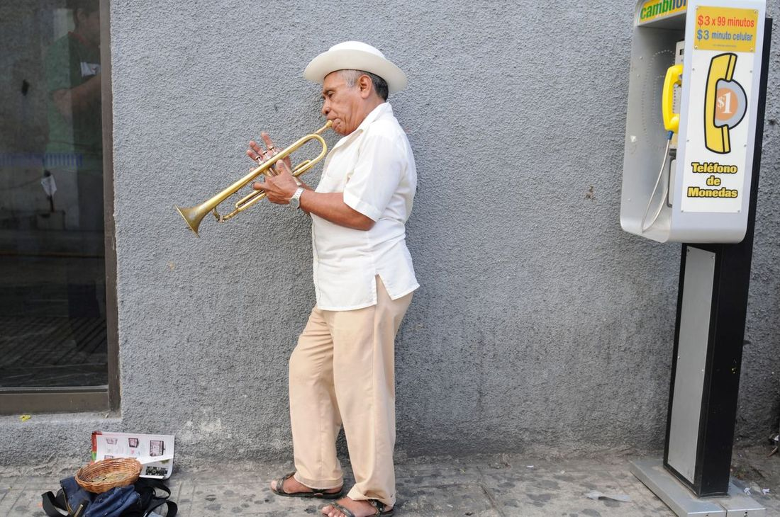 Mature Adult One Mature Man Only One Man Only One Person Standing Working Only Men Occupation Adult Adults Only Outdoors Day Mature Men Skill  Full Length People Holding Music Musical Instrument Men