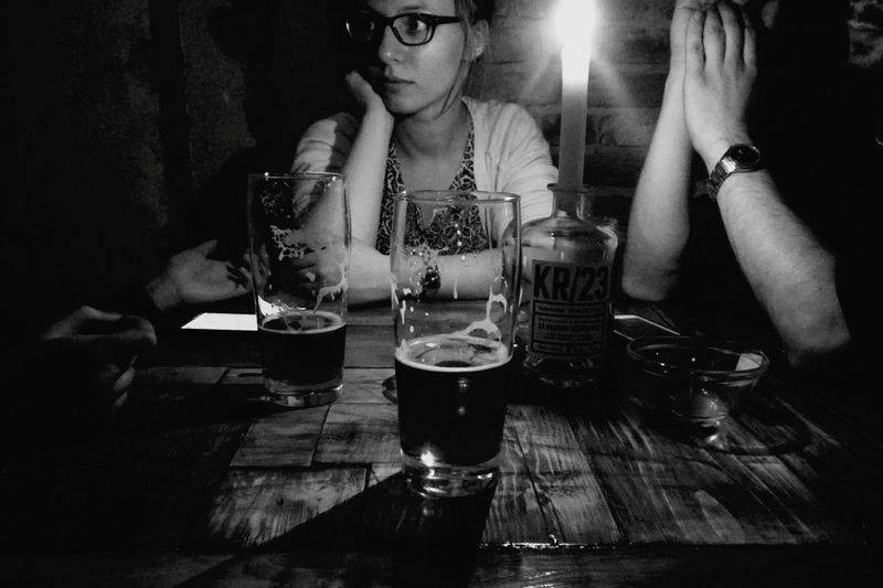 Conversation Candle Light Craft Beer Light And Shadow