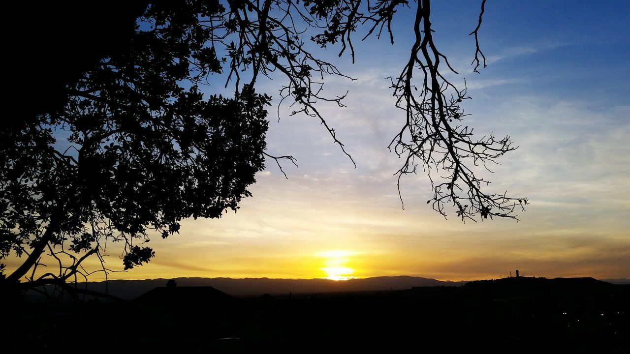 sunset, silhouette, sky, tree, beauty in nature, nature, orange color, no people, tranquil scene, scenics, tranquility, landscape, outdoors, cloud - sky