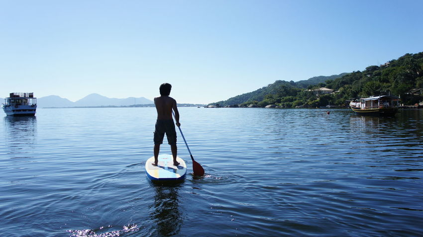 Adults Only Blue Clear Sky Day Esporte Men Nature Nautical Vessel One Man Only One Person People Radical Reflection Scenics Sky Surf Tranquil Scene Water