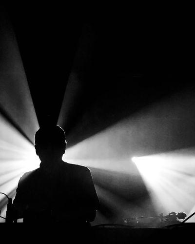 Dj Krush DJ Krush Stage - Performance Space Music Illuminated Silhouette Event Performance Visual Creativity