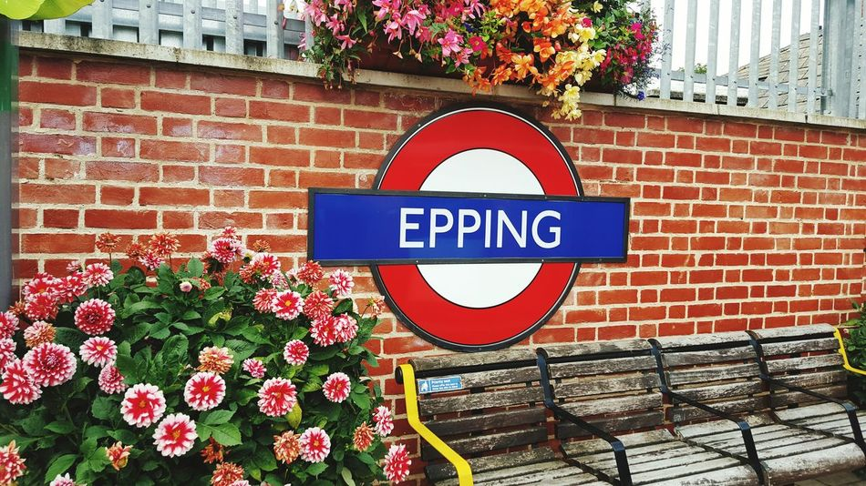 Epping Undergroundstation Flowers Bench Lovely Brick Wall