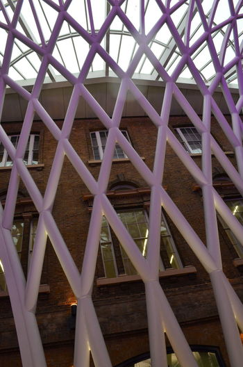 Architectural Feature Architectural Patterns Architecture Architecture And Art Backgrounds Built Structure Ceiling Design Geometric Shape Iron - Metal Kings Cross Kings Cross Station Low Angle View Modern No People Pattern Repetition Window Windows