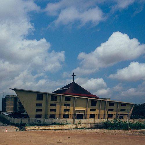 Thank God for the beautiful sunny day... Lagos Nigeria Church Lagosnigeria architecture africa snapitoga
