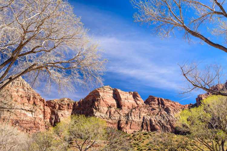 Rock Formations Against Sky At Zion National Park
