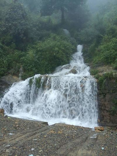 monsooon fun ... waterfall everywhere in doon !!!!