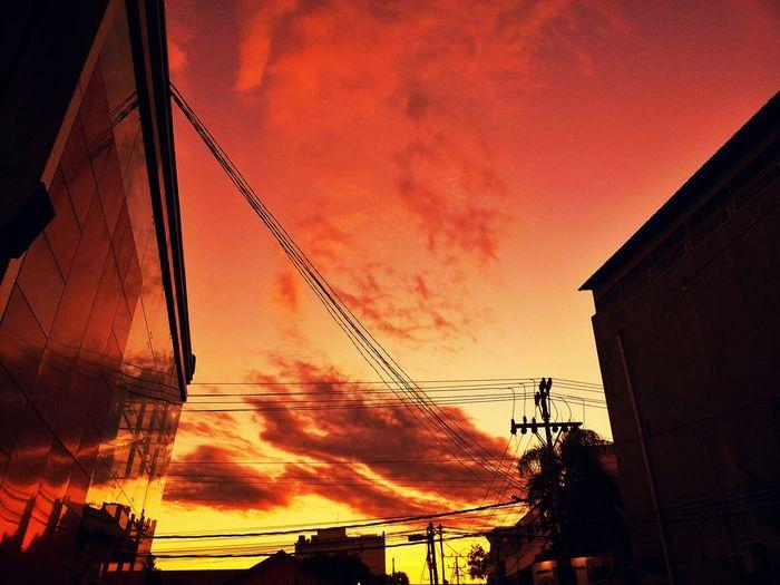Sunset Silhouettes Enjoying The Sunset