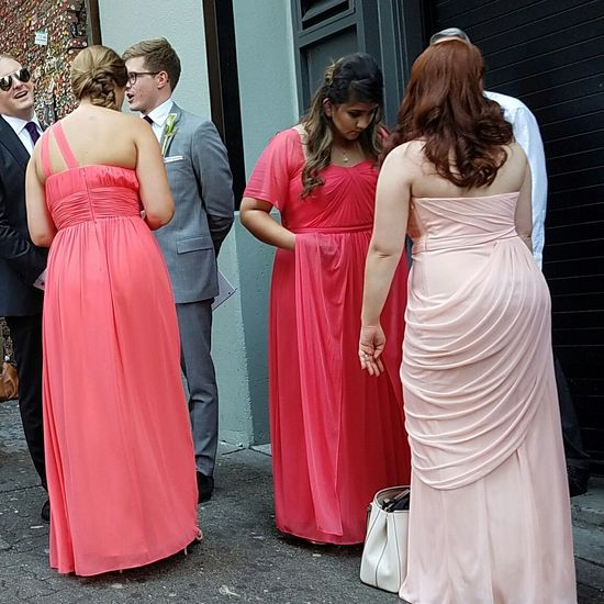 Two Is Better Than One Full Length Vibrant Color Check This Out Eyeemphoto Best Of EyeEm Taking Photos Candid Wedding Party Postalley Gum Wall Formal Attire Hello World Color Palette Colour Of Life Pink Color People And Places Candid Photography Seattle, Washington