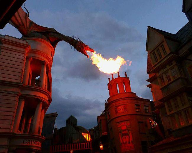 Gringotts at Universal Studios Orlando Dragon Fire Fantasy Familytrip