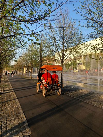 Moscow Muzeon Summertime City City Life Footpath Incidental People Land Vehicle Mode Of Transportation Moscow Life Muzeonpark Outdoors Park People Real People Street Sunlight Transportation Travel Modern Hospitality The Street Photographer - 2018 EyeEm Awards The Traveler - 2018 EyeEm Awards