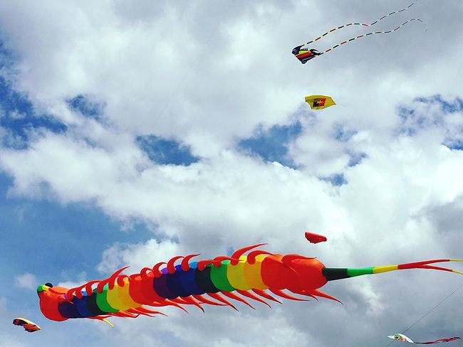 Cloud - Sky Multi Colored Outdoors Windy Day Pasir Gudang World Kite Festival EyeEmNewHere Paint The Town Yellow