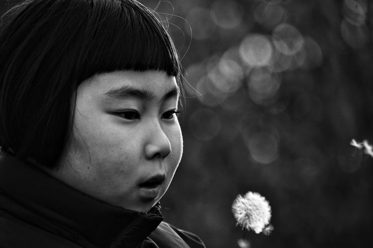 Wishing Depth Of Field Eye Em Best Shots Portrait Monochrome Bw_collection Blackandwhite Bokeh
