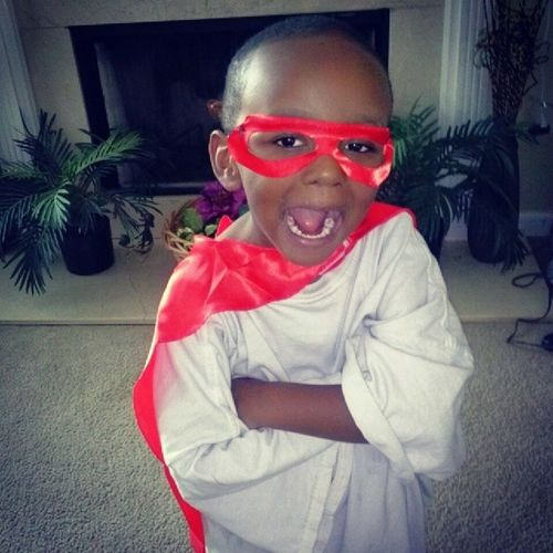 Look who Super HERO Cape  came in today... Introducing JadenAwesome !