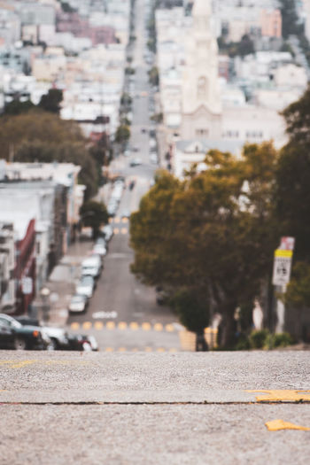The streets of San Francisco, from the hills City Street No People Outdoors San Francisco California Cities Travel Destinations Walking Tour