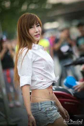 Run For Your Lifes Thailand http://www.photostory.in.th http://fb.me/ArchMerciGod Beautiful Girl Modelgirl RFYLasia Portrait Sexygirl Rfylth RFYL Model Pose Cute Yamaha