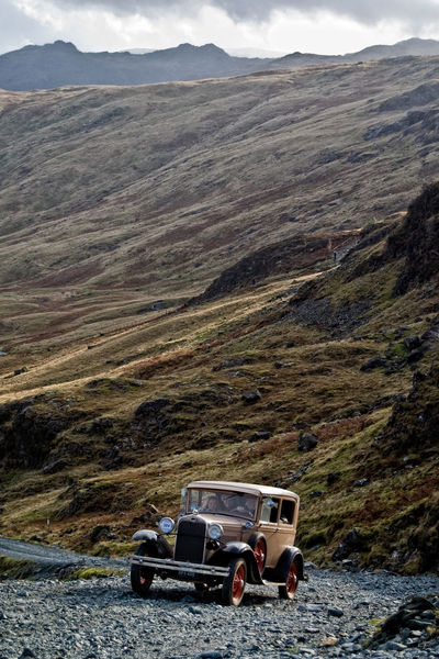 Vintage Cars Classic Classic Car Mountain View Lakedistrict Lake District Honisterpass