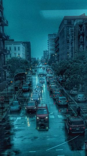 View From My Window Train 🚊 Window Rain 🌧🌧 Rainy Day in Chicago Street Street Photography Urban Urban Skyline Urban Landscape Urbanphotography Blue 💠💠 Buildings 🏙 Architecture Architecture_collection Busy Busy Street Evening City Cityscape IPhoneography Eyem EyeEm Gallery