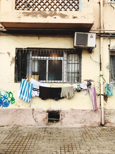 Built Structure Architecture Building Exterior Building Residential District House No People Laundry Clothesline Outdoors Entrance City Old