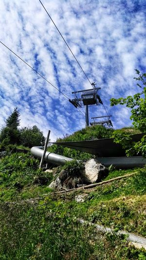 Rutsch-Party Seilbahn Cable Car Cablecar Cablecars Cablecarview Downhill Rutsche Rutschen Slide Slide - Play Equipment Tree Technology Electricity Pylon Electricity  Cable Fuel And Power Generation