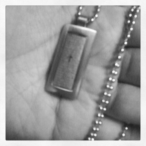 """salamat dad sa necklace na nakalagay ang """"Ama Namin"""" :) Prayer Necklace Daddy Silverworks happydaughter"""
