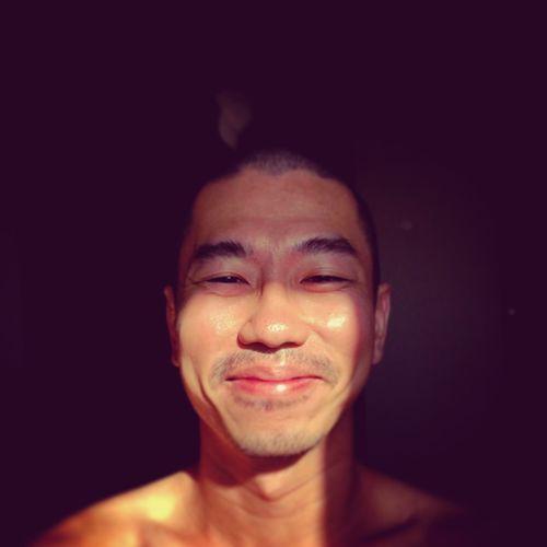Smile Sunny Day Shadows & Lights Portrait Sunbathing☀ Man Selfie Squinting Asian  EyeEmNewHere The Portraitist - 2018 EyeEm Awards