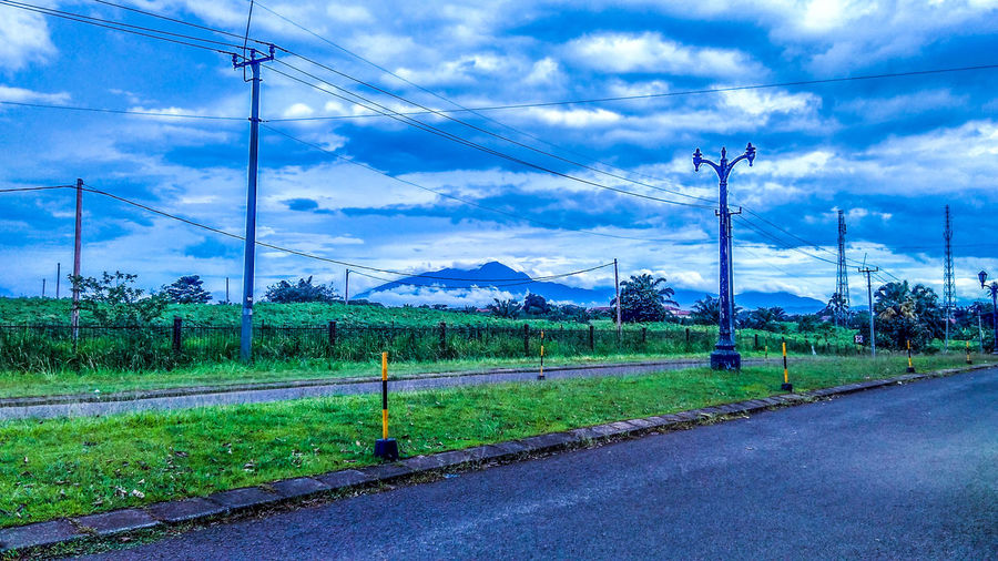 Indonesia HDR mountain clouds road view panorama landscape green Cloud - Sky Cable Electricity  Power Line  Sky Technology No People Road Day Telephone Line Outdoors Grass Electricity Pylon Nature First Eyeem Photo