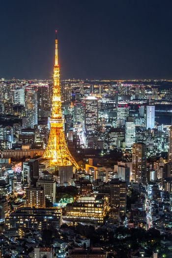 Tokyo Tower Tokyo Japan Japan Photography Building Exterior Architecture Illuminated Built Structure City Building Sky Night Tourism Tower Travel Nature Skyscraper