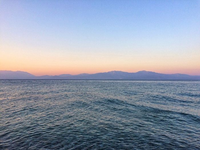 Calm sea EyeEm Selects Water Sky Scenics - Nature Beauty In Nature Tranquil Scene Tranquility Sea Sunset Nature Waterfront Mountain Outdoors