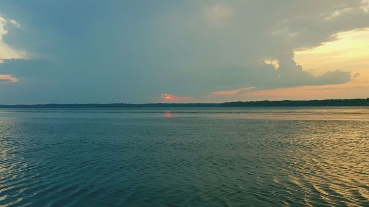 A storm forming over Virgina, as seen from Marylands Potomac Coast