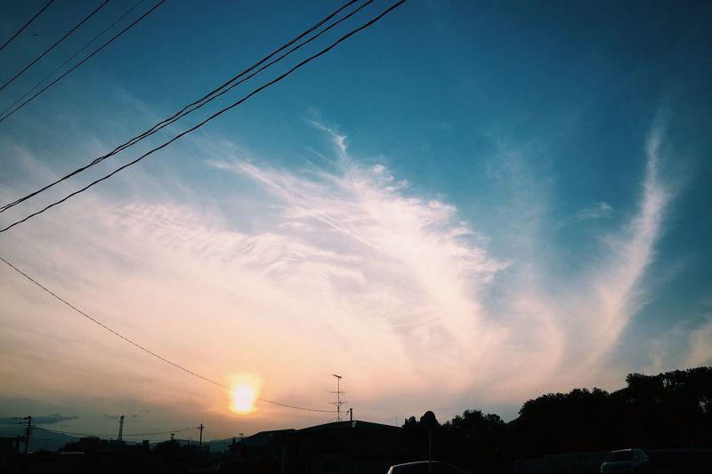 今日の夕空
