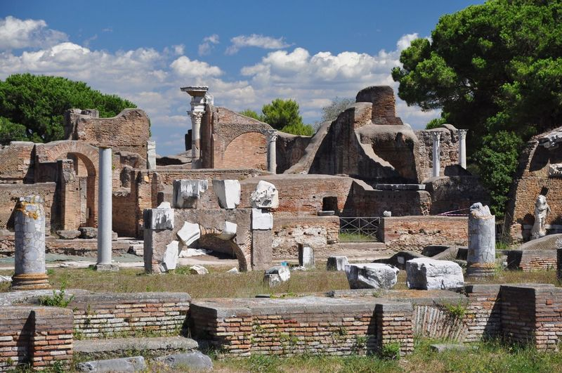 Everyone knows about Pompeii, but Italy also has another dead Roman city, Ostia Ostia Ancient Ancient Ruins Ancient Civilization Ruins Italy Rome Roman Architecture Ancient Architecture Blue Sky Clouds Travel Travel Photography History Historic Museum