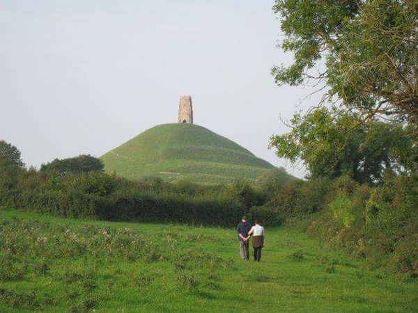 Grass Landscape Real People Rural Scene Sky Agriculture Scenics Outdoors Nature Day Glastonbury Tor