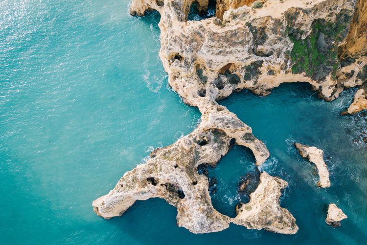 Algarve Atlantic Atlantic Ocean Coastline Drone  Lagos Ponta Da Piedade Tourist Attraction  Aerial View Algarve, Portugal Beach Beauty In Nature Blue Blue Water Coast Day Dji Nature No People Outdoors Rock - Object Scenics Sea Seaside Sky Water