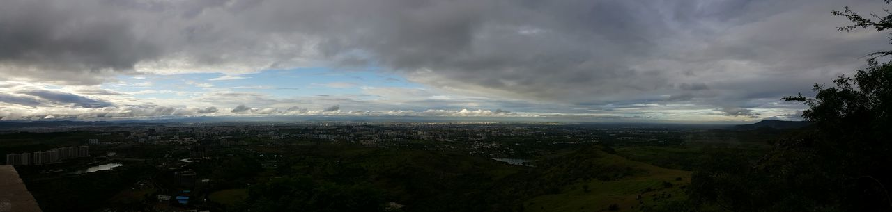Panorama of Pune Panoramic Cloudy Cityscape Cloud - Sky Landscape Aerial View Distant Wide First Eyeem Photo