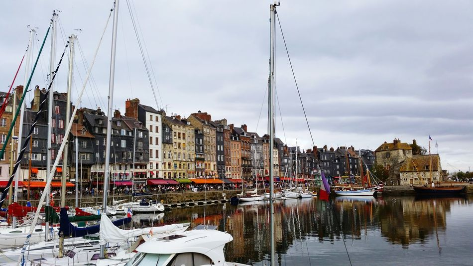 Reflection Water Business Finance And Industry Outdoors No People Day Sky Nature Normandie Honfleur