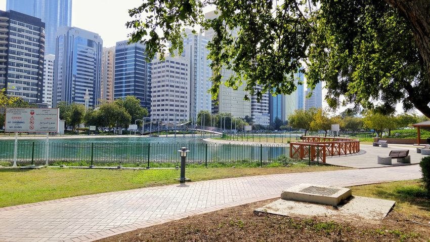 Lake Park Friday Abu Dhabi UAE Park Outdoors Architecture Building Exterior Tree Outdoors City Built Structure Day