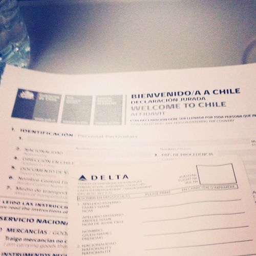 My first step on South American continent!! Airport Trip Chile