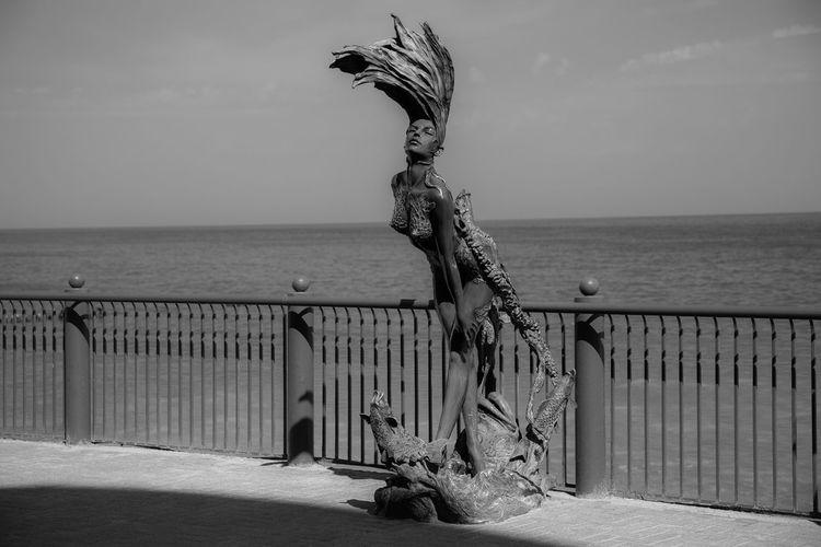 Architecture Art And Craft Built Structure Creativity Horizon Horizon Over Water Nature Sculpture Sea Sky Water