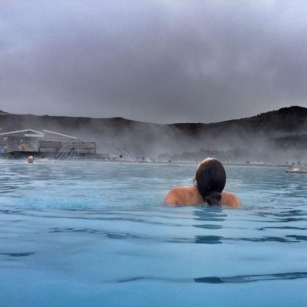 Geothermal Spa Spa Outdoor Spa Woman In Pool