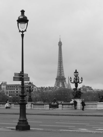 Bridge Bridge Alexandre III City Cityscape Eiffel Tower Expectancy Lamp Lonliness Outdoors Paris Tower Travel Destinations Stories From The City