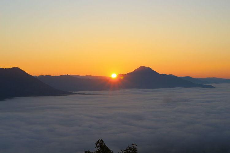#foggy #loei #Morning #Thailand Landscape Mountain Nature Sun Sunset