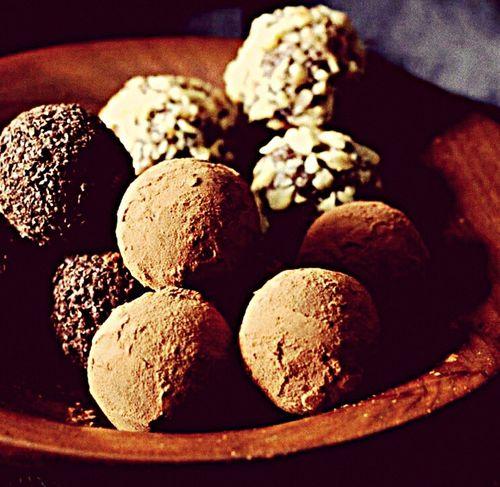 Tartufi al cioccolato Truffle Dessert Breakfast Food Sweet Food Cibo Chocolate Cioccolato Nocciole Mandorle Dessert Chef Giampietroruotolochef