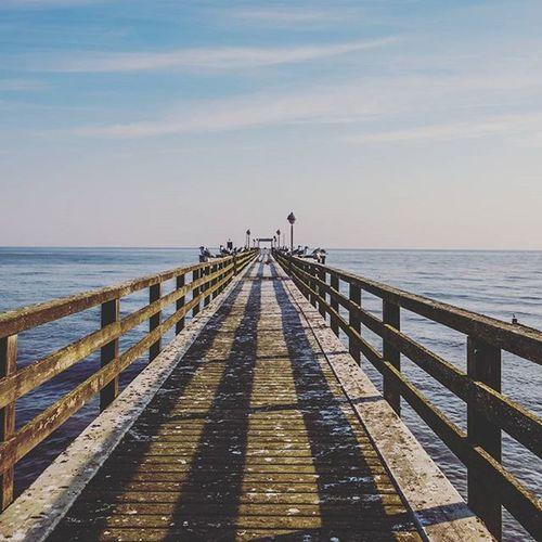 Seebrücke Koserow Koserow Usedom Pier Baltic Sea Ocean Mecklenburgvorpommern Mecklenburg_vorpommern Nordlotsen Beach