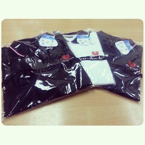 Company supported three Polo T-Shirts to All Staffs Yipintsoi Yipintsoiandjacks Polotshirt 88years black white navy hydrotech