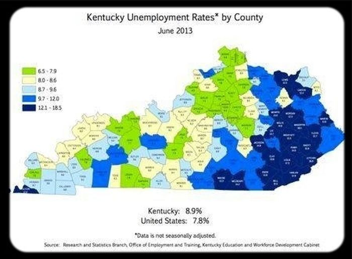 According to research and statistics of unemployment in Kentucky [*BETWEEN JUNE 2012 TO JUNE 2013] 88 counties in our state are experiencing difficulty maintaining or gaining employment. Syntek Global is giving our economies unemployment a face lift. Share this opportunity and contact me for more details. Be sure to watch quick video! ↙ Www.starcrystal7.mysyntek.com http://www.kyforward.com/our-government/2013/07/25/unemployment-rates-increase-in-88-kentucky-counties-between-june-2012-and-june-2013/ Syntek Global