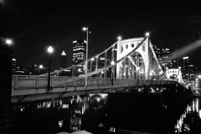 Findingthebeauty Finding The Beauty Hanging Out Taking Photos Downtown Pittsburgh Check This Out Bridges Pittsburgh Blackandwhite Cityscapes Black And White Black & White Blackandwhite Photography Black And White Photography