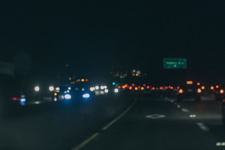 Car City Illuminated Land Vehicle Night No People Outdoors Road Sky Street Transportation