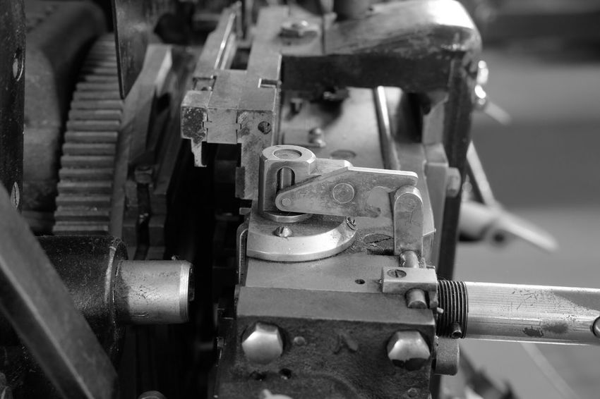 EyeEm Selects Metal Close-up Printing Press